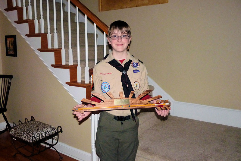 Anthony with his Arrow of Light award
