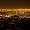 Ein kleiner Teil von Los Angeles vom Griffith Observatory - die Hochhaeuser links sind das eigentliche downtown LA's