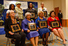 "(Denver, Colorado, March 26, 2011)<br /> Honorees pose for a formal photo with Gloria Parsons-Gray (back row, second from left).  ""2011 Living Portraits of African-American Women,"" presented by the National Council of Negro Women, Inc., Denver Chapter, and the Blair-Caldwell African-American Research Library, at Denver Public Library system's Central Library in Denver, Colorado, on Saturday, March 26, 2011.<br /> STEVE PETERSON"