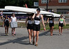 Girls first varsity walking boat to the launch dock, Aubree in front