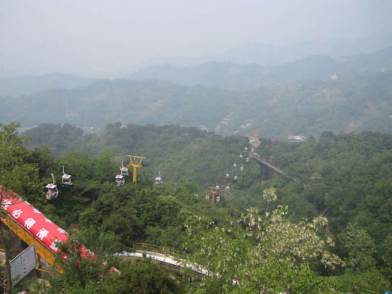 Alpine slide and gondola at the Great Wall