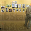 "Tribune-Star/Jim Avelis<br /> On display: Winning photographs in the Trees Inc. photography contest are now on display in the Vigo County Public Library. The theme of this years' contest was ""Trees as Sculpture""."
