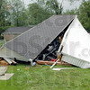 Storage: A storage building in Marion Heights was destroyed by high winds during overnight storms.