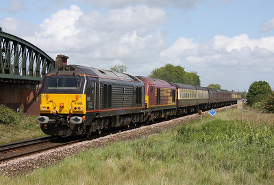 67005 Battledown 22/05/11 5Z73 Gloucester to Eastleigh with 67022
