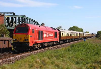 67018 Battledown 5Z92 Stewarts Lane to Bournemouth VSOE ecs