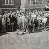 Tribune-Star/Rachel Keyes<br /> Breaking ground: The class of 1954 breaks ground on a new gymnasium which is now the Blackhawk community center.