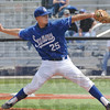 Tribune-Star/Rachel Keyes<br /> Winding up: Indiana State's Jason Van Skike prepares to  throw a fast ball in action Sunday.