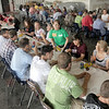 Lunch bunch: Area Agriculture students take a break for lunch while attending the Ivy Tech Ag Expo Friday afternoon.