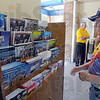 Tribune-Star/Jim Avelis<br /> Passing through: Styeve Prosser of Greenwood looks over the rack of literature at the Clear Creek visitors center.