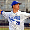 Tribune-Star/Jim Avelis<br /> Glove work: ISU pitcher Colin Rea had several fielding opportunities in the early innings against Evansville Friday night.
