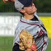 Tribune-Star/Jim Avelis<br /> On the mound: John Patterson started the game on the mound for Terre Haute North.