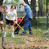 Groundwork: Stan Morse, Leah Myers, Bill Myers and Patti Weaver prepare the space at 1334 2nd Avenue for the Community Garden Saturday morning.
