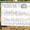 Garden: Sign detail