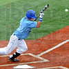 Bunt: Indiana State's #5, Koby Kraemer lays down a bunt during game action Saturday.