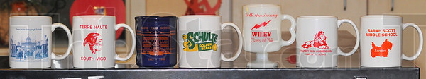 Tribune-Star/Jim Avelis<br /> Fund raisers: Coffee cups stenciled with the names and perhaps logos of schools have been used as fundraisers for reunions.