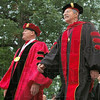President and Chairman: Rose-Hulman president Matt Branam and Chairman of the Board of Trustees Bill Fenoglio lead students to their Commencement Saturday morning.