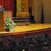 Tribune-Star/Jim Avelis<br /> Thanks: Kyle Moody was one of three students to address their classmates and loved ones at their ceremony Wednesday evening.