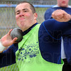 Tribune-Star/Jim Avelis<br /> Heave ho: Lee Davis threw for over 49 feet in the shot put at the Patriot Invitational.