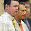 Connection: Current Chauncey-Rose principal Greg Gauer and superintendent of schools Dan Tanoos also a former principal at Chauncey-Rose respond to questions during Wednesday's meeting. .