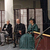 Interpreters: Costumed interpreters from the Vigo County Historical Society participate in Wednesday's presentation.