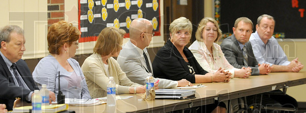 Team: Vigo County School administrators were on hand to field questions from participants in the meeting at Chauncey-Rose Wednesday night.