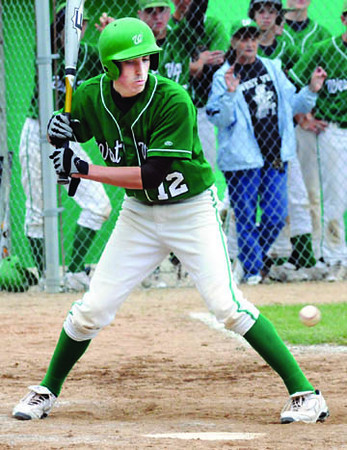 Low ball: West Vigo's #12, Zack Kent lays off a low pitch during early inning action against Georgetown Saturday morning.