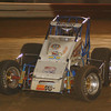 Number one: Levi Jones leads the pack at the Terre Haute Action Track during the final rae of Indiana Sprint week.