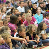 Magical: West Vigo Elementary School students watch Purdue Extension educator Larry Caplan during Wednesday's performance.