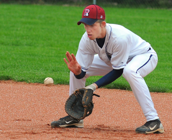 Tribune-Star/Jim Avelis<br /> Stopper: First baseman Blake Price anchors the right side of the infield for the Riverton-Parke Panthers
