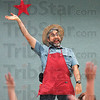 Eco magic: Larry Caplan performs magic for West Vigo Elementary School children Wednesday morning.