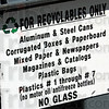 Recyclables only: Detail of recyclable container.