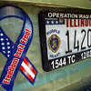 Purple Heart: License plate on Aaron Wernz vehicle detail photo.