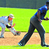 Sure hands: North shortstop Cody Gardner stops a ground ball.