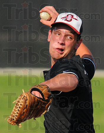 Tribune-Star/Jim Avelis<br /> Can't touch this: James Maxwell was overpowering in the early innings against Martinsville, recording eight strikeouts in the first three innings.