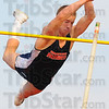 Tribune-Star/Jim Avelis<br /> PR: Conner Curley set a personal record, won the pole vault and qualified for the state meet Tuesday evening at the North-South meet.