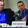Indianapolis Superintendent Dr. Tony Bennett addresses the room during Indiana's Education Roundtable at IUPUI Conference Center in Indianapolis, Tuesday, May 24, 2011. (AP Photo/The Star, Danese Kenon)
