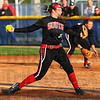 Tribune-Star/Jim Avelis<br /> Good outing: Brave pitcher Marissa Stout delivers a first inning pitch against Terre Haute North.