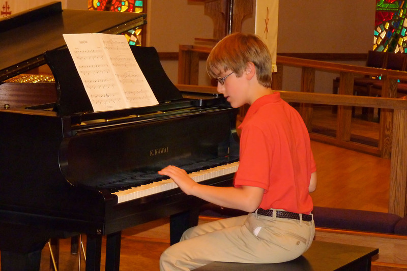 Anthony, Ms. Glenda's piano recital