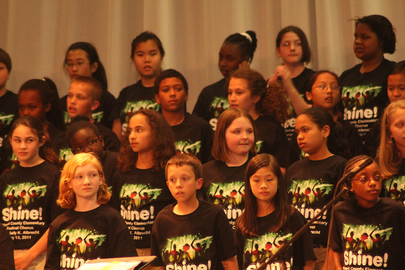 Romi was part of a select group of students in Chorus performing at the county level. Go Romi!
