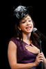 "(Denver, Colorado, May 4, 2011)<br /> Diana DeGarmo sings.  ""Women With Hattitude,"" benefiting the Women's Voices Fund, at the Donald R. Seawell Grand Ballroom in Denver, Colorado, on Wednesday, May 4, 2011.<br /> STEVE PETERSON"