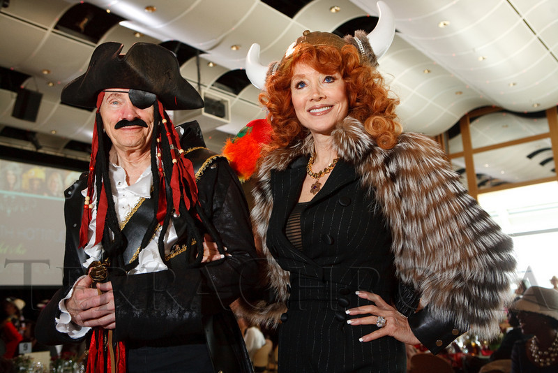 "(Denver, Colorado, May 4, 2011)<br /> Dan Ritchie and Judi Wolf.  ""Women With Hattitude,"" benefiting the Women's Voices Fund, at the Donald R. Seawell Grand Ballroom in Denver, Colorado, on Wednesday, May 4, 2011.<br /> STEVE PETERSON"