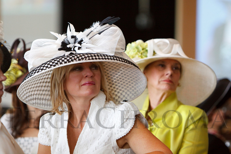 "(Denver, Colorado, May 4, 2011)<br /> Denise Snyder and Susan Kiely.  ""Women With Hattitude,"" benefiting the Women's Voices Fund, at the Donald R. Seawell Grand Ballroom in Denver, Colorado, on Wednesday, May 4, 2011.<br /> STEVE PETERSON"
