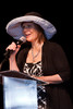 "(Denver, Colorado, May 4, 2011)<br /> Guest speaker, playwright Laura Eason.  ""Women With Hattitude,"" benefiting the Women's Voices Fund, at the Donald R. Seawell Grand Ballroom in Denver, Colorado, on Wednesday, May 4, 2011.<br /> STEVE PETERSON"