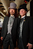 "(Denver, Colorado, May 4, 2011)<br /> Gregory Sargowicki and Lawrence French.  ""Women With Hattitude,"" benefiting the Women's Voices Fund, at the Donald R. Seawell Grand Ballroom in Denver, Colorado, on Wednesday, May 4, 2011.<br /> STEVE PETERSON"