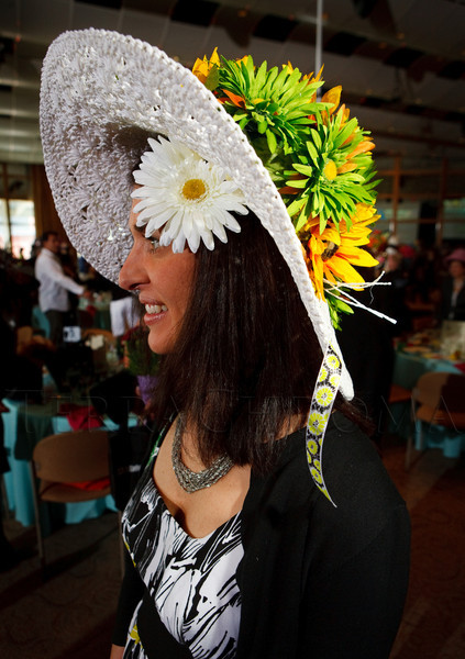 "(Denver, Colorado, May 4, 2011)<br /> Maria Smith.  ""Women With Hattitude,"" benefiting the Women's Voices Fund, at the Donald R. Seawell Grand Ballroom in Denver, Colorado, on Wednesday, May 4, 2011.<br /> STEVE PETERSON"