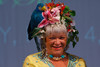 "(Denver, Colorado, May 4, 2011)<br /> Cathy Marquis in a hat formerly worn by Dawn Denzer.  ""Women With Hattitude,"" benefiting the Women's Voices Fund, at the Donald R. Seawell Grand Ballroom in Denver, Colorado, on Wednesday, May 4, 2011.<br /> STEVE PETERSON"
