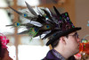 """(Denver, Colorado, May 4, 2011)<br /> Tommy Collier in a hat he designed the previous evening.  """"Women With Hattitude,"""" benefiting the Women's Voices Fund, at the Donald R. Seawell Grand Ballroom in Denver, Colorado, on Wednesday, May 4, 2011.<br /> STEVE PETERSON"""