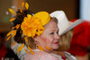 "(Denver, Colorado, May 4, 2011)<br /> Lynnette Morrison with a hat from Mariel.  ""Women With Hattitude,"" benefiting the Women's Voices Fund, at the Donald R. Seawell Grand Ballroom in Denver, Colorado, on Wednesday, May 4, 2011.<br /> STEVE PETERSON"