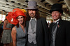"(Denver, Colorado, May 4, 2011)<br /> Carmel Koeltzow, Gregory Sargowicki, and Lawrence French.  ""Women With Hattitude,"" benefiting the Women's Voices Fund, at the Donald R. Seawell Grand Ballroom in Denver, Colorado, on Wednesday, May 4, 2011.<br /> STEVE PETERSON"