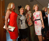 "(Denver, Colorado, May 4, 2011)<br /> Elana Hirschfeld (in Trina Turk), Arlene Hirschfeld (in Fendi, with ""accent"" or ""fascinator"" in hair acquired in Amsterdam), Dana Fulenwider (in Ralph Lauren), and Dawn Wood (in Dolce & Gabbana).  ""Luncheon By Design,"" an event sponsored by Neiman Marcus and The Design Council, at the Denver Art Museum in Denver, Colorado, on Wednesday, May 4, 2011.<br /> STEVE PETERSON"